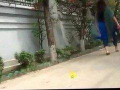Desi Bhabi huge ass Walking Show