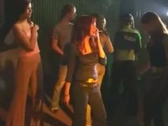Girl Smoking White 100 While Dancing at an All Girls Party