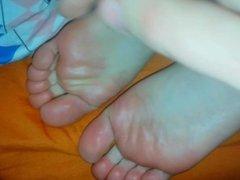 Cum On Toes & Soles. Her Beautiful Feet Makes Me Hard. Ksenia's Foot Fetish