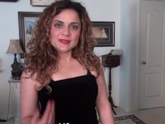 American milf Vanessa Jones gets naughty in black nylon