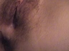 Blond creampie close up