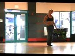 FTV Girl Blonde flashing tits in gym