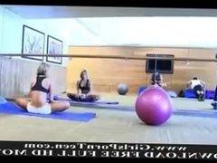 FTV ANNE flashing big tits in gym