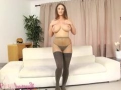 Stacey Poole waiting for you to cum on her huge tits in sexy lingerie