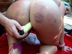 Fucking in the ass a hot gypsy milf with great huge big round ass