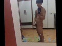 Korean boy masturbates