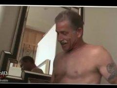 Daddy fucks daddy bareback