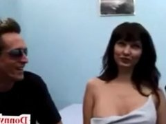 Donny Long gives first big cock to cheating wife milf fake titty attention
