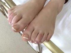 Playful Feet Of Cute Blonde