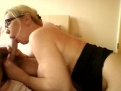 Deepthroat Gag Blowjob Pouring his cum over my face rubbing it in