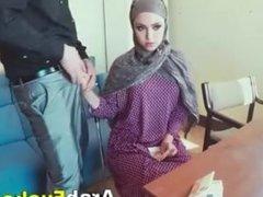 Arabian Slut Applies For Job Ends Up Fucking For Cash