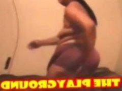 Sexy black bbw granny in shower cam!Pre