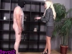House Slave Gets Ballbusting Punishment for Not Cleaning