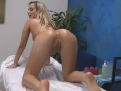 hot blonde massaged and fucked