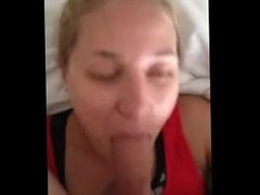 Another dick swallowing blonde using that tongue to get cum