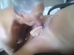 78 year old guy giving 68 year old a blowjob and swallows