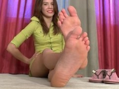 Hot Brunette Foot POV