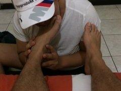 A partner licking my feet