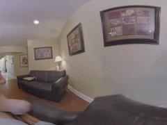 VR360 - Teen Kristen Scott Rides Her Friends Big Dick Behind Her Mom's Back