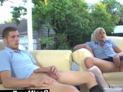 RealMomExposed - Two young teens get dominated by mature milf.