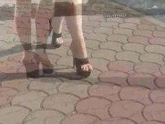 Black Platform Mules - Walking In High Heels