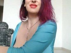 MILF with Big Tits Smoking