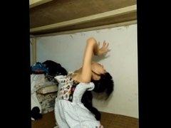 Skinny Asian Teen Webcam Tease - Partial Nudity