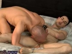 Sebastian's gay long haired anal hunks cum in ass while fucking