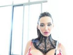 Amy Anderssen - Smoking Latex Fetish Lady in Red