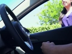 Latina watches me masturbate publicly in my car