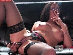 Emma Butt's - Chain Lightup Smoking Masturbation