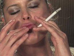 Karina - Masturbates in Stockings Smoking Cork 120's
