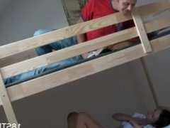 Dorm room hot teen defloration