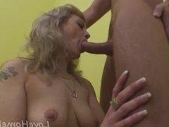 Horny milf lets her neighbor slam her tunnels