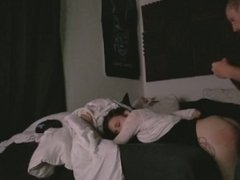 Amateur clothed petite teen fucked hard doggy