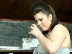Fat stockinged femdom facesitting on her sub
