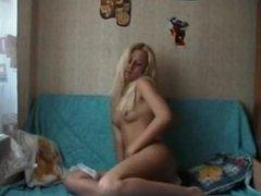 Blonde teen orgasm