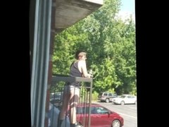 straight guy caught bulging in grey underwear in public waiting for his gf