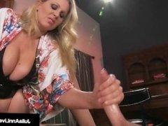 Mega Hot MILF Julia Ann Tortures & Abuses Her Slave Boy!
