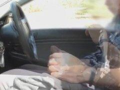 Big dick cumming in Car
