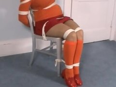 Velma chair tie and cleave gagged