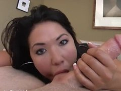 Busty Asian London Keyes takes it in the ass