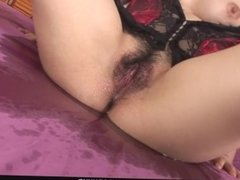 Hot and busty brunette babe in lingerie fondled and fucked