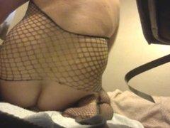 fishnet body suit
