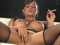 Sasha Cane - Smoking as She Plays With Her Pussy