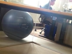 caught the CFO jerking under his desk, full view from the meeting room