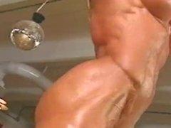 vintage muscle woman dancing topless