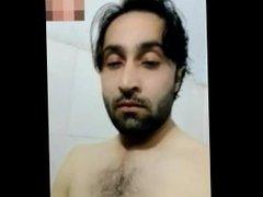 Turkish man show big cock in shower