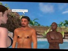 La dépravation de Céline : Episode 3 Part1 (BD animée - 3DCG - No sound)