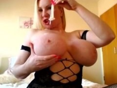 I make him cum in 30 seconds and cover my tits with his cum